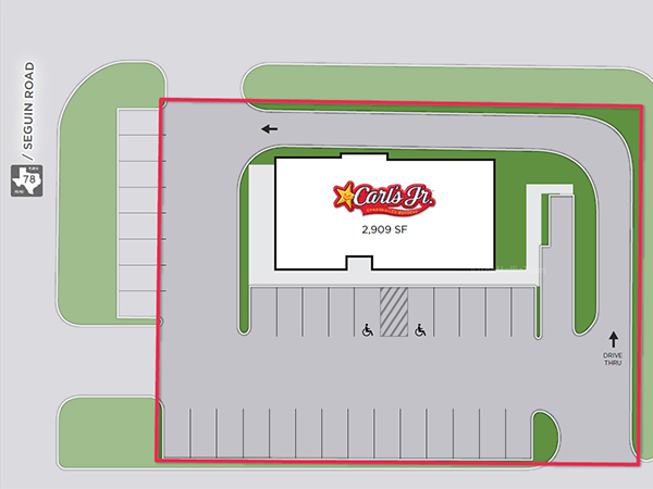 Carl's Jr. - San Antonio, TX - Site Plan