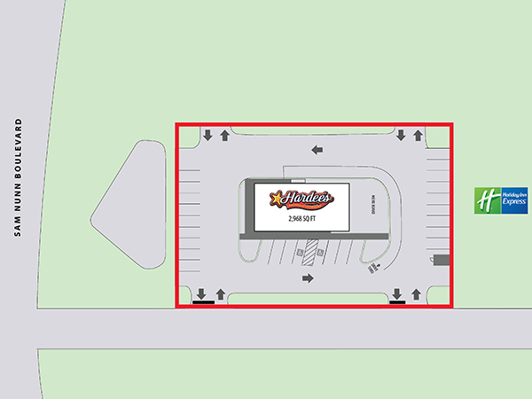 Hardee's - Perry, GA - Site Plan