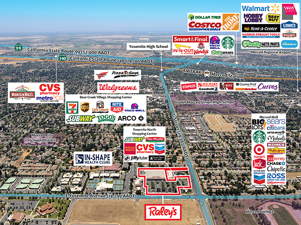 Raley's - Merced, CA - Aerial 1