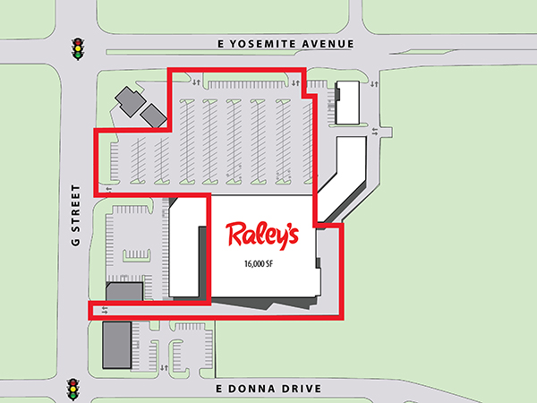 Raley's - Merced, CA - Site Plan