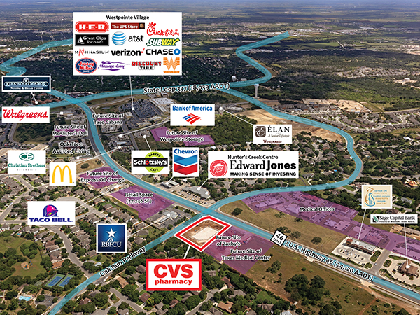 CVS Pharmacy - New Braunfels, TX - Aerial