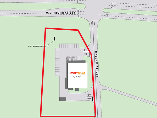 Family Dollar - Piedmont, AL Site Plan