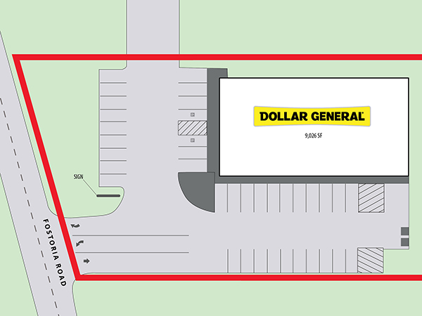 Dollar General - Cleveland, TX Site Plan