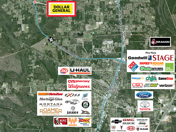Dollar General - Silsbee, TX Aerial