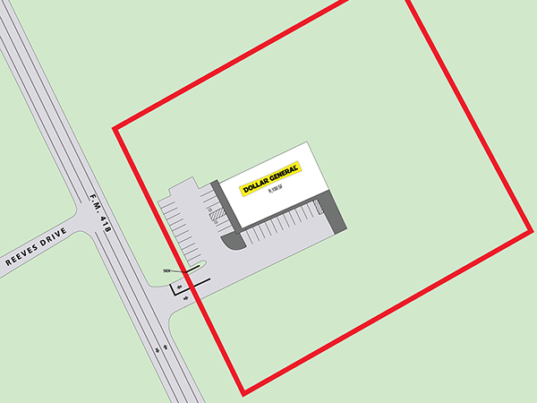 Dollar General - Silsbee, TX Site Plan