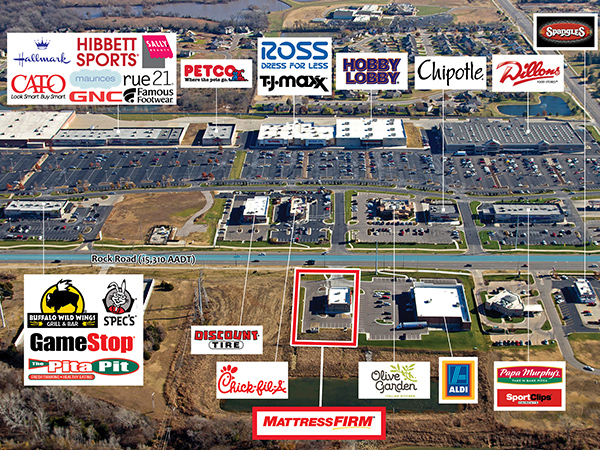 Mattress Firm - Derby, Kansas Aerial