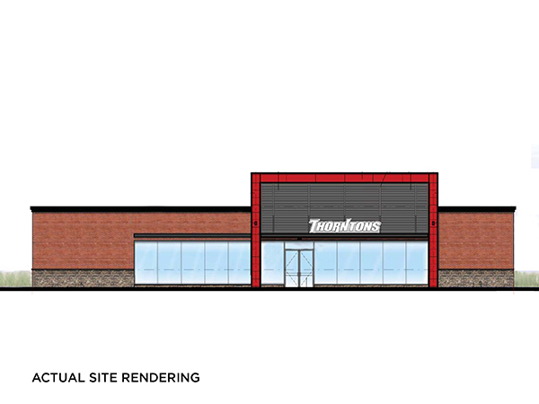Thorntons Ground Lease Actual Site Rendering