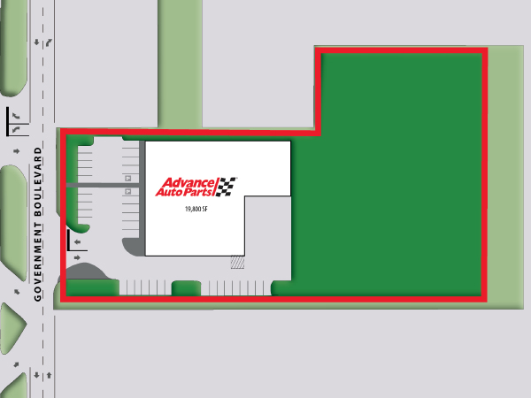 Advanced Auto Parts - Mobile, AL Site Plan